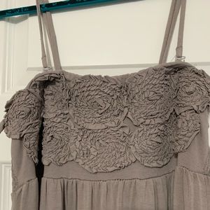 INC SZ Sm strappy sundress in taupe 100% cotton
